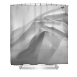 White Paper Shower Curtain by Hugh Smith