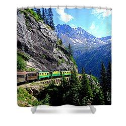White Pass And Yukon Route Railway In Canada Shower Curtain