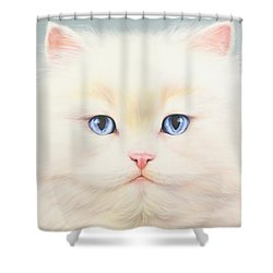 White Persian Shower Curtain by Andrew Farley
