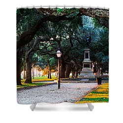 White Point Garden Walkway Charleston Sc Shower Curtain