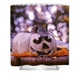 White Pumpkin Shower Curtain by Aaron Aldrich