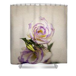 White Purple Lisianthus Shower Curtain