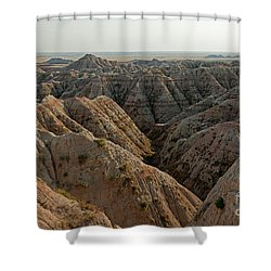 White River Valley Overlook Badlands National Park Shower Curtain