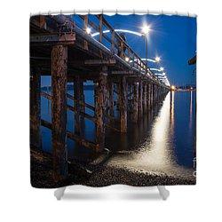 White Rock Pier - By Sabine Edrissi Shower Curtain