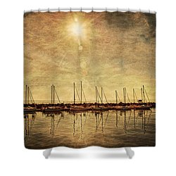 White Rock Sunset Shower Curtain