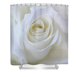 White Rose Floral Whispers Shower Curtain