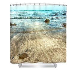 White Sand Beach Shower Curtain