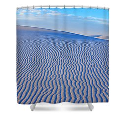 White Sand Patterns New Mexico Shower Curtain by Bob Christopher