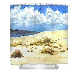 White Sands New Mexico U S A Shower Curtain by Carol Wisniewski