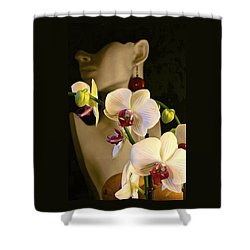 White Shoulders Shower Curtain
