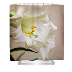 White Softness Shower Curtain