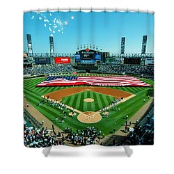 White Sox Opening Day Shower Curtain by Benjamin Yeager
