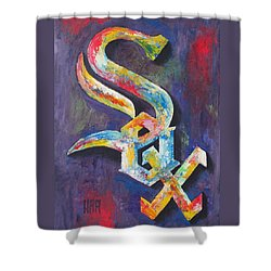 Chicago White Sox Baseball Shower Curtain by Dan Haraga