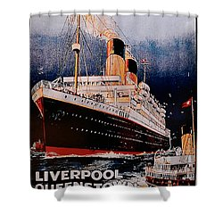 White Star Line Poster 1 Shower Curtain