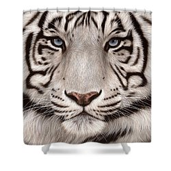 White Tiger Painting Shower Curtain