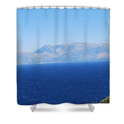 Shower Curtain featuring the photograph White Trail by George Katechis