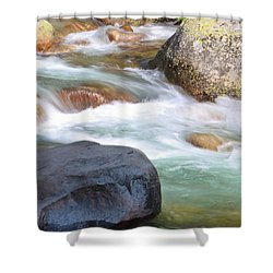 White Water Shower Curtain by Heidi Smith