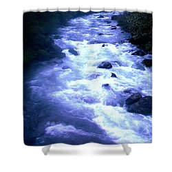 White Water Shower Curtain by J D Owen