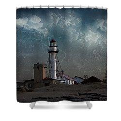 Whitefish Point Lighthouse Lake Superior Shower Curtain