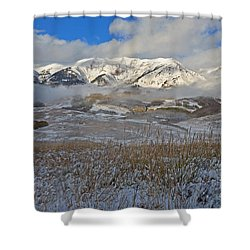 Whiterock Winter Mist Shower Curtain