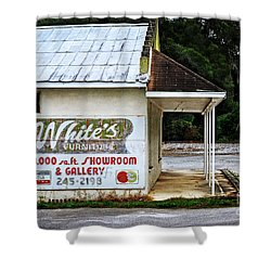 White's Furniture Shower Curtain by Mary Machare