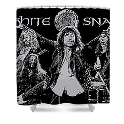 Whitesnake No.01 Shower Curtain by Caio Caldas