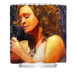 Whitney Gone Too Soon Shower Curtain