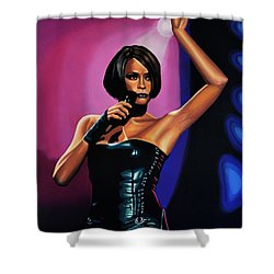Whitney Houston On Stage Shower Curtain