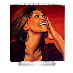 Whitney Houston Shower Curtain