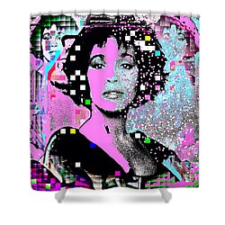 Whitney Houston Sing For Me Again 2 Shower Curtain
