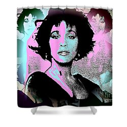 Whitney Houston Sing For Me Again Shower Curtain