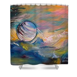 Who But You Could Leave A Trail Of Galaxies Shower Curtain by PainterArtist FIN
