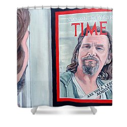 Shower Curtain featuring the painting Who Is This Guy by Tom Roderick