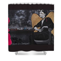 Who's The Decider? Shower Curtain
