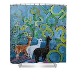 Why All The Confusion? Shower Curtain