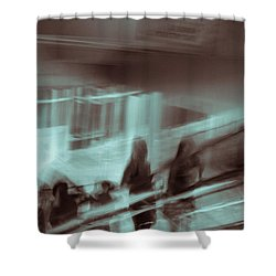 Shower Curtain featuring the photograph Why Walk When You Can Ride by Alex Lapidus