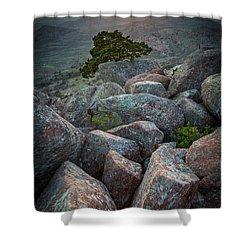 Wichita Mountains Shower Curtain by Inge Johnsson