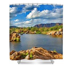 Wichita Mountains Shower Curtain by Jeffrey Kolker