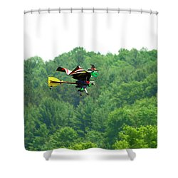 Wicked And Flying Shower Curtain by Thomas Young