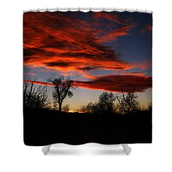 Shower Curtain featuring the photograph Wicked Skies by Janice Westerberg