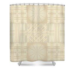 Wicker Quilt Shower Curtain