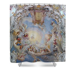 Wies Pilgrimage Church Bavaria Fresko Shower Curtain by Rudi Prott