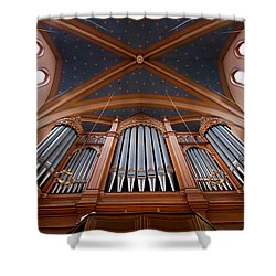 Wiesbaden Marktkirche Organ Shower Curtain