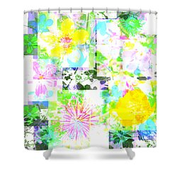 Wild About Flowers Shower Curtain by Barbara Moignard