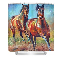 Wild And Free Shower Curtain by David Stribbling