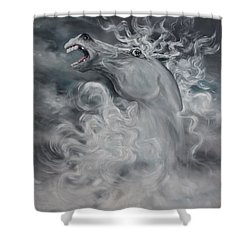Shower Curtain featuring the painting Wild And Free by Jean Walker