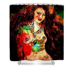 Wild And Free Shower Curtain by Natalie Holland