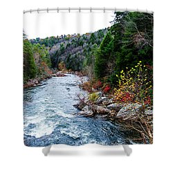 Wild And Scenic Obed River Shower Curtain by Paul Mashburn