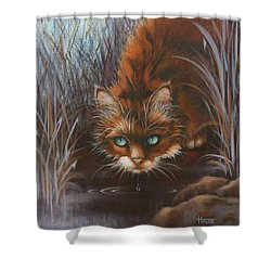 Shower Curtain featuring the painting Wild At Heart by Cynthia House