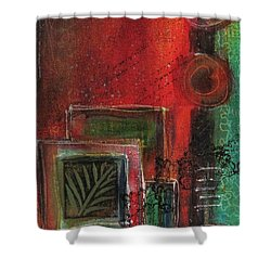 Shower Curtain featuring the painting Wild At Heart by Nicole Nadeau